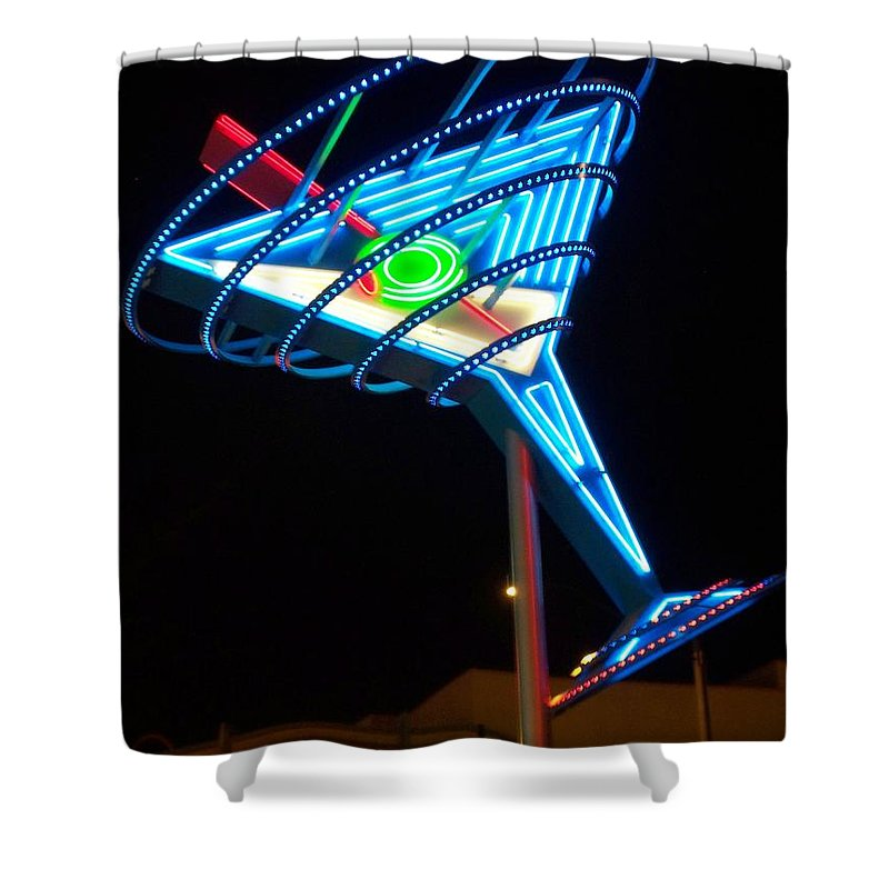 Fremont East Shower Curtain featuring the photograph Neon Signs 4 by Anita Burgermeister