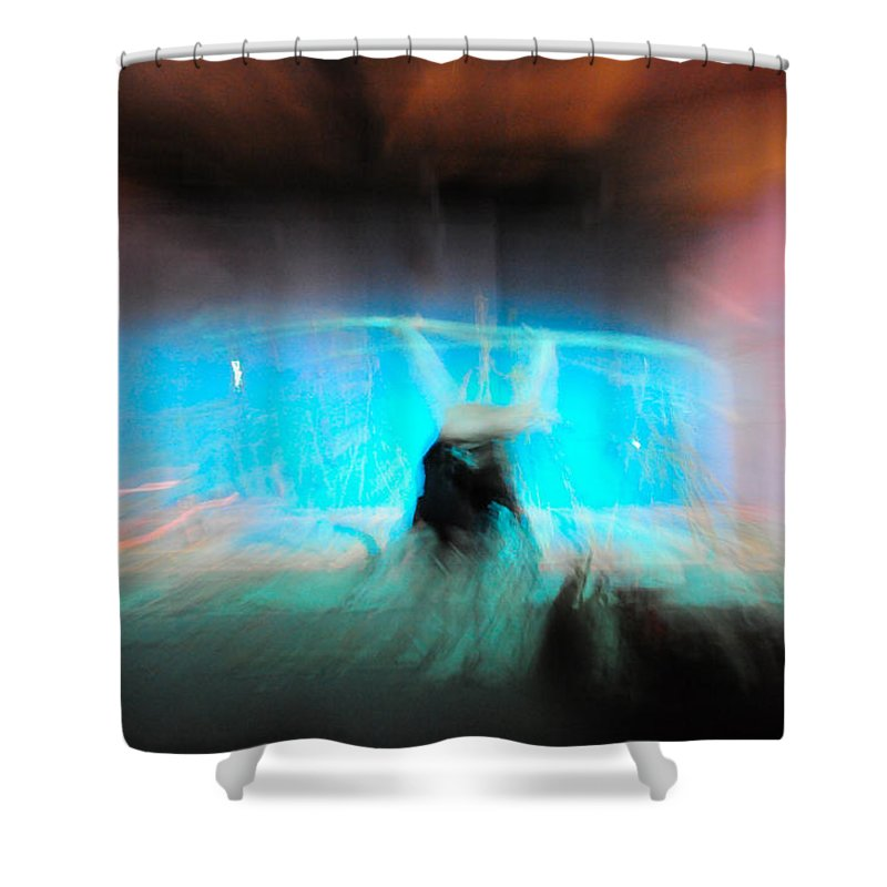 Long Exposure Shower Curtain featuring the photograph Neon Stick by Scott Sawyer