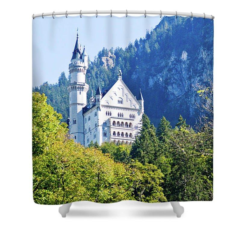 Schloss Shower Curtain featuring the photograph Neuschwanstein Castle 1 by Bernard Barcos