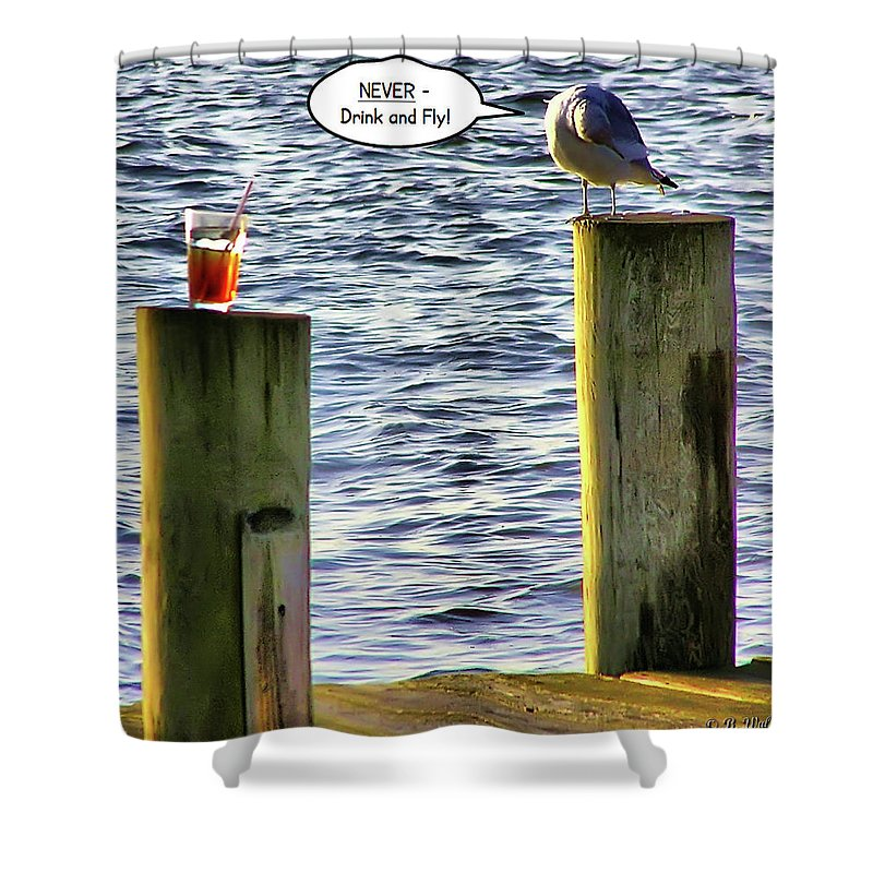 2d Shower Curtain featuring the photograph Never Drink And Fly by Brian Wallace