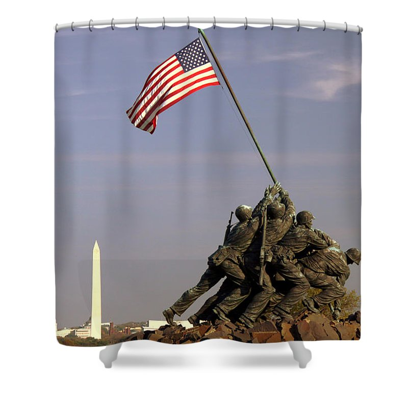 America Shower Curtain featuring the photograph Never Forget by Mitch Cat