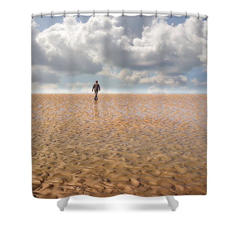 Landscape Shower Curtain featuring the photograph Never Go Back by Mal Bray