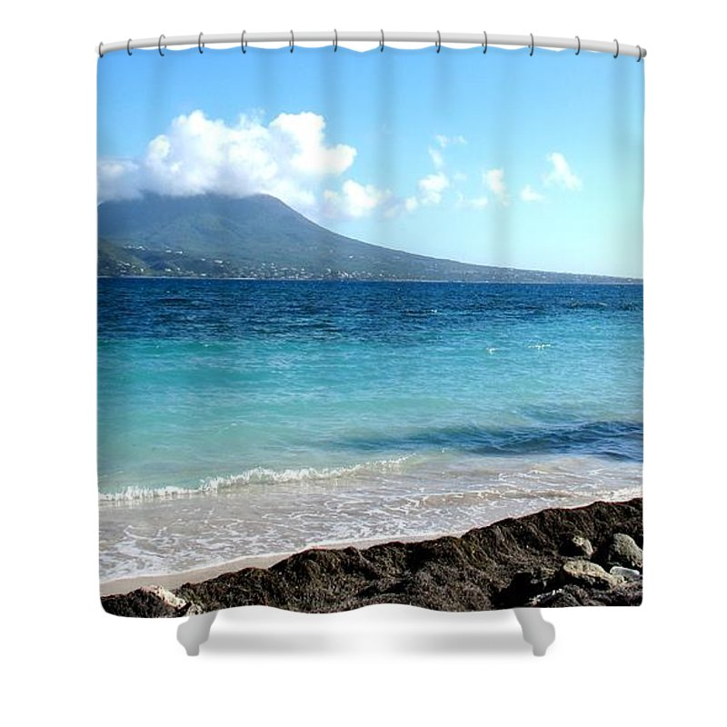 Nevis Shower Curtain featuring the photograph Nevis Across The Channel by Ian MacDonald