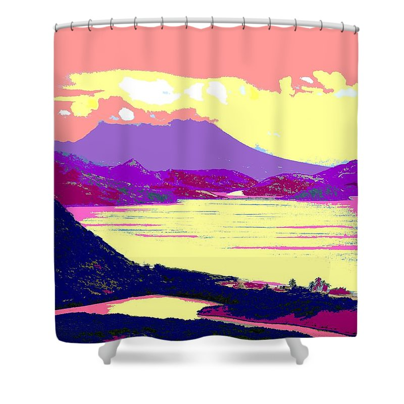 Nevis Shower Curtain featuring the photograph Nevis From The Penninsula by Ian MacDonald