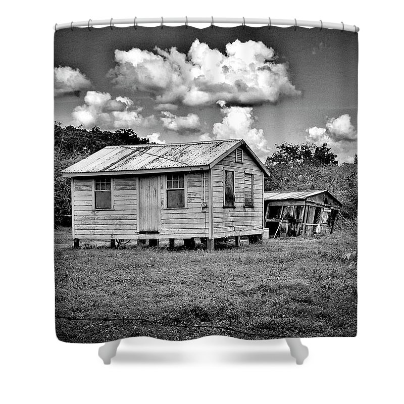 Wooden House Shower Curtain featuring the photograph New And Old House by Jessica Levant