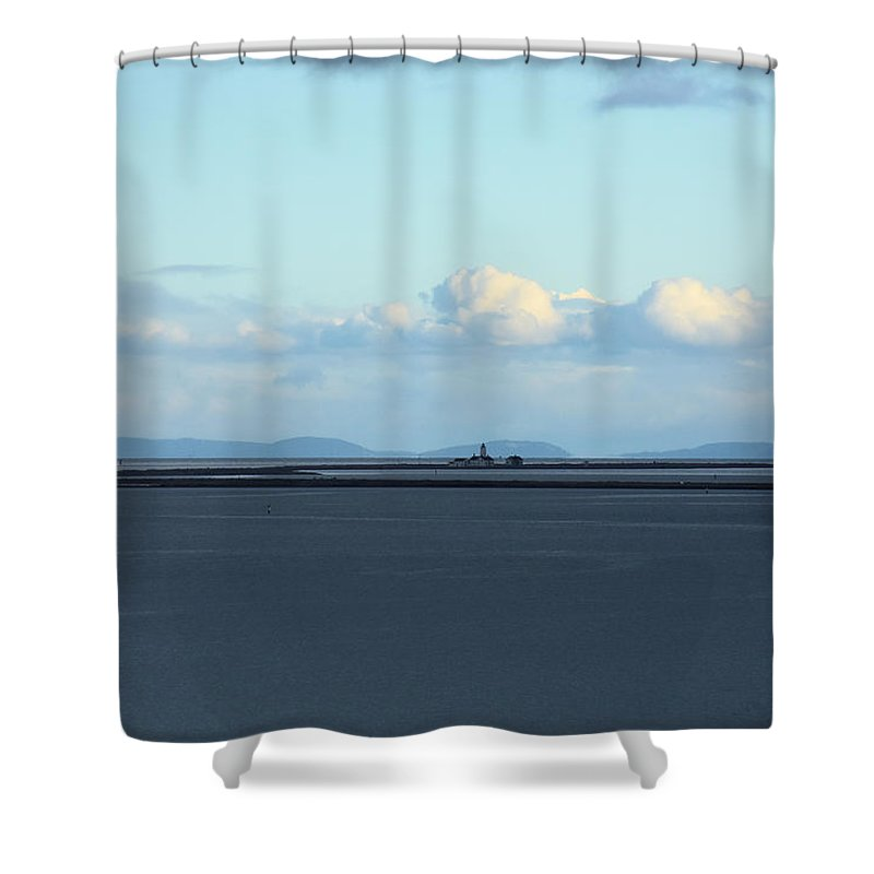 Lighthouse Shower Curtain featuring the photograph New Dungeness Lighthouse by Rich Bodane
