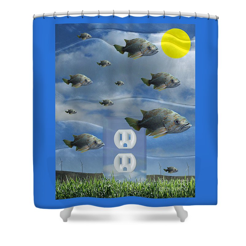 Digital Art Shower Curtain featuring the digital art New Energy by Keith Dillon