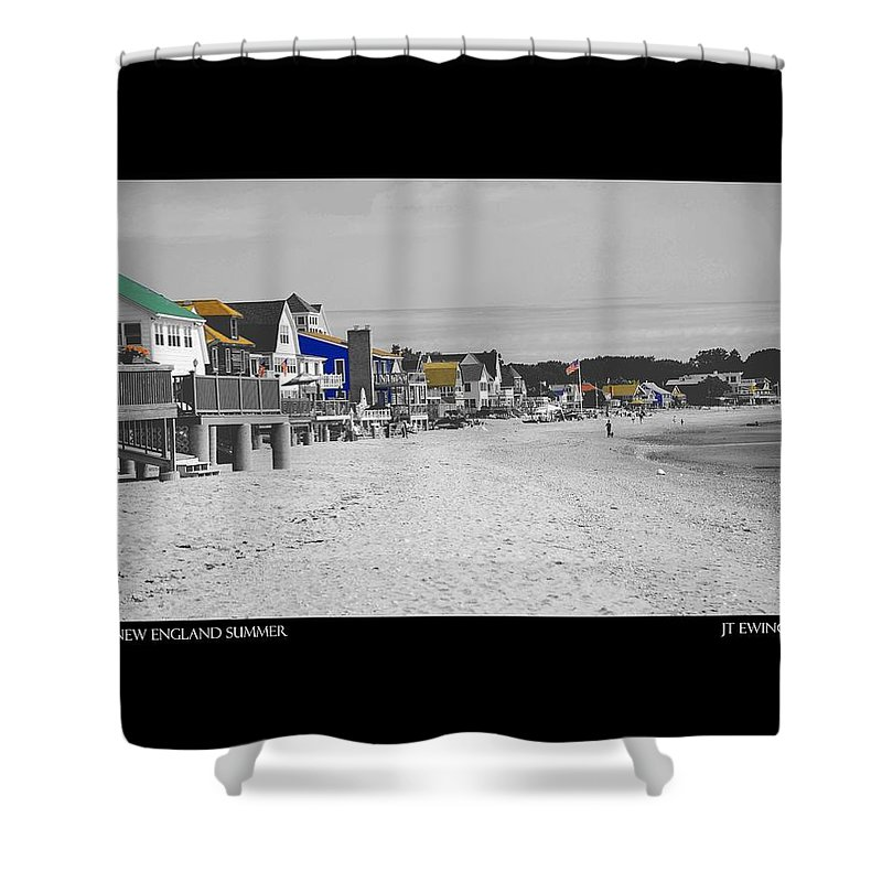 Summer Shower Curtain featuring the photograph New England Summer by J Todd