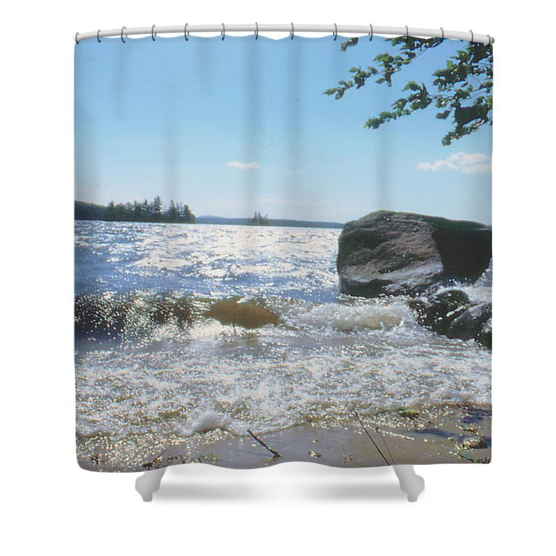 New Hampshire Shower Curtain featuring the photograph New Hampshire Lake Gale by Ron Swonger