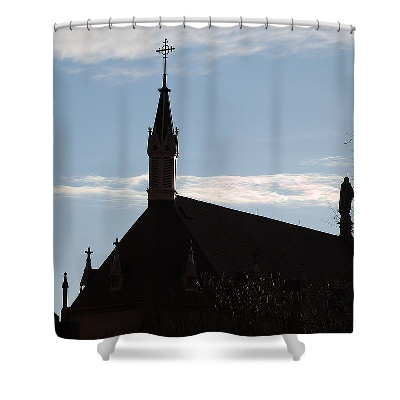 Church Shower Curtain featuring the photograph New Mexican Church by Rob Hans