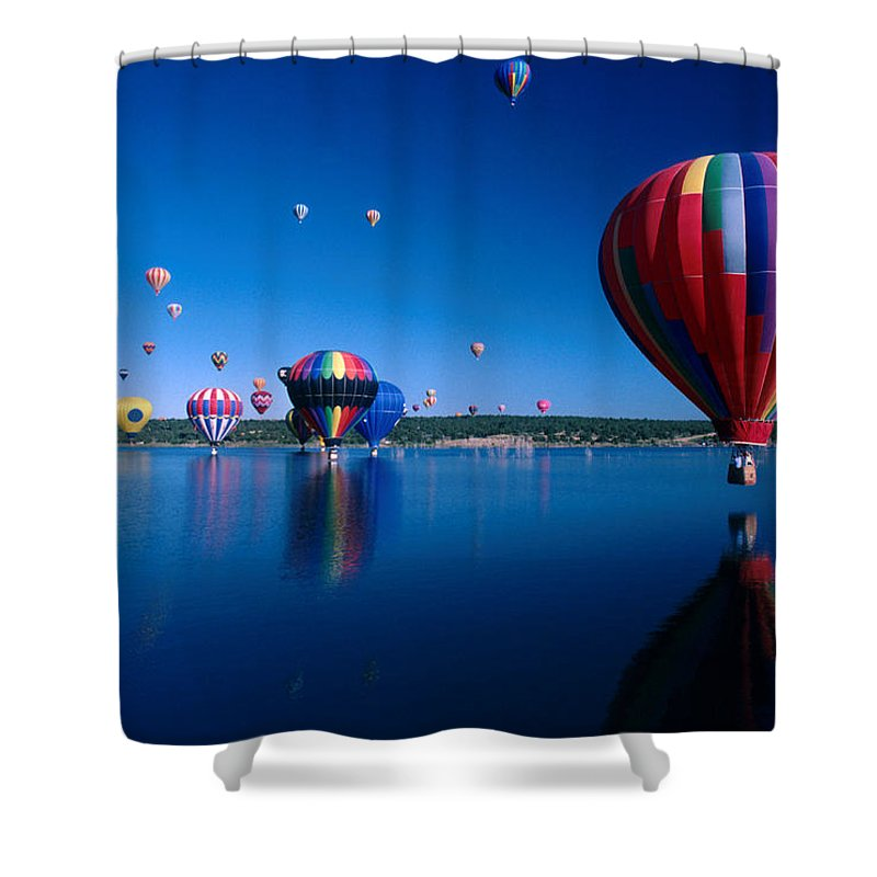 Hot Air Balloon Shower Curtain featuring the photograph New Mexico Hot Air Balloons by Jerry McElroy