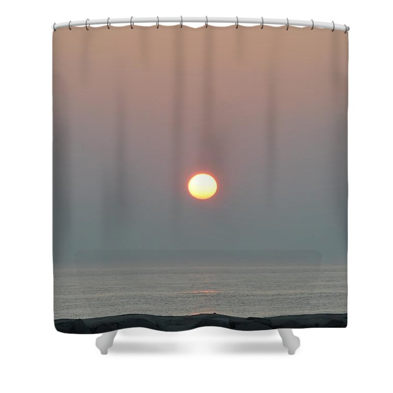 Sun Shower Curtain featuring the photograph New Morning by Bill Cannon