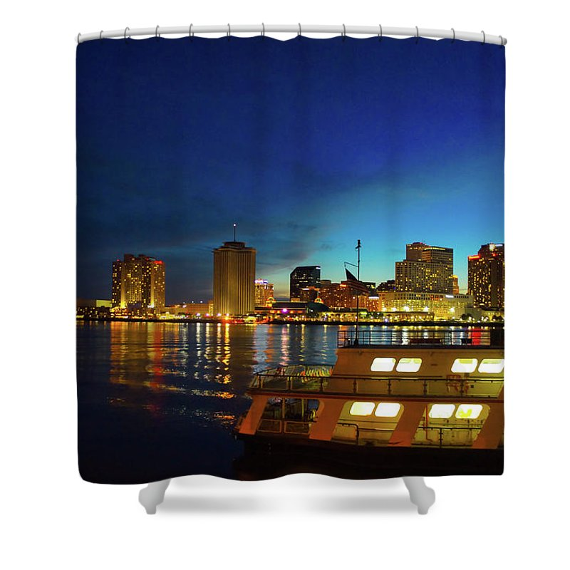 New Orleans Shower Curtain featuring the photograph New Orleans Downtown Skyline by Art Spectrum