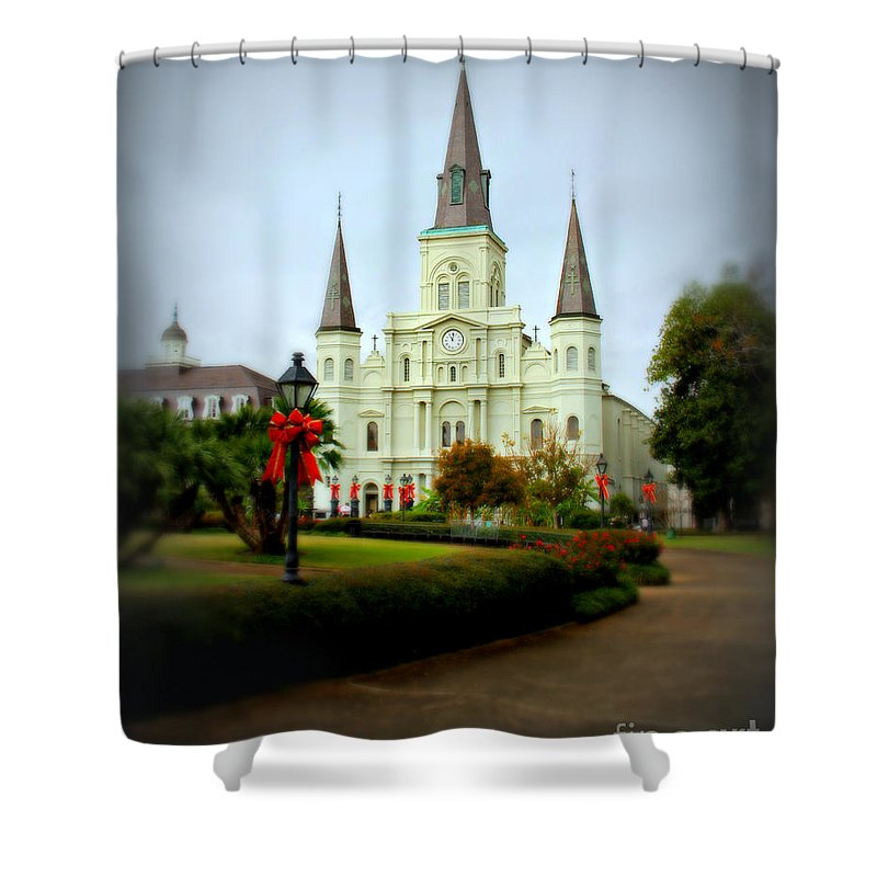 Jackson Square Shower Curtain featuring the photograph New Orleans Holiday by Perry Webster