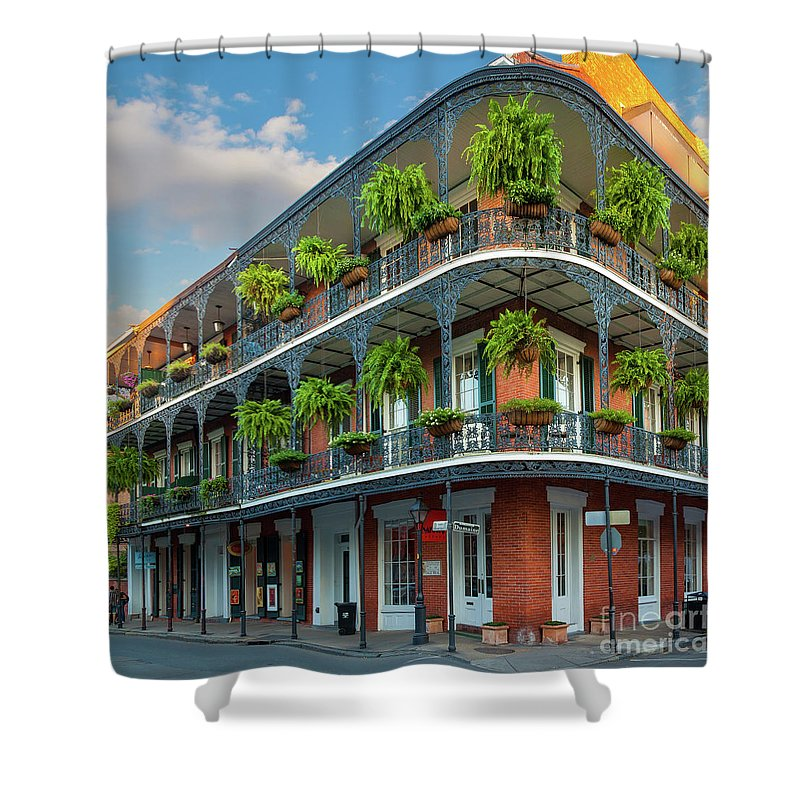 America Shower Curtain featuring the photograph New Orleans House by Inge Johnsson