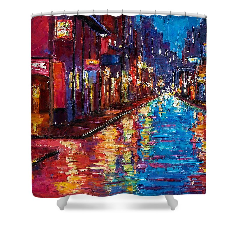 New Orleans Shower Curtain featuring the painting New Orleans Magic by Debra Hurd