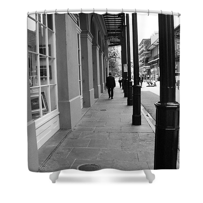 America Shower Curtain featuring the photograph New Orleans Street Photography 1 by Frank Romeo