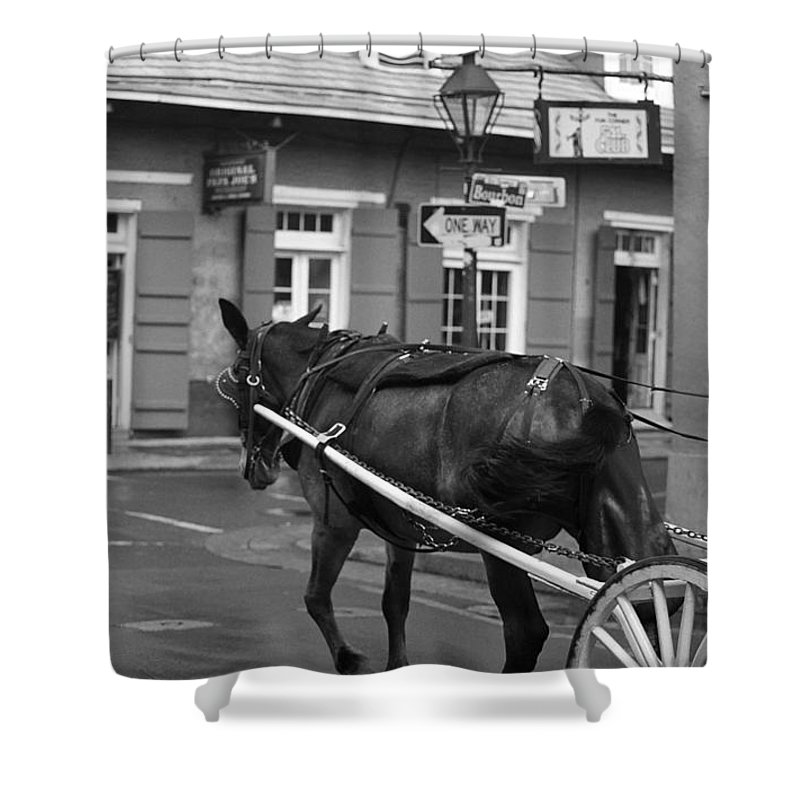 America Shower Curtain featuring the photograph New Orleans Street Photography 3 by Frank Romeo