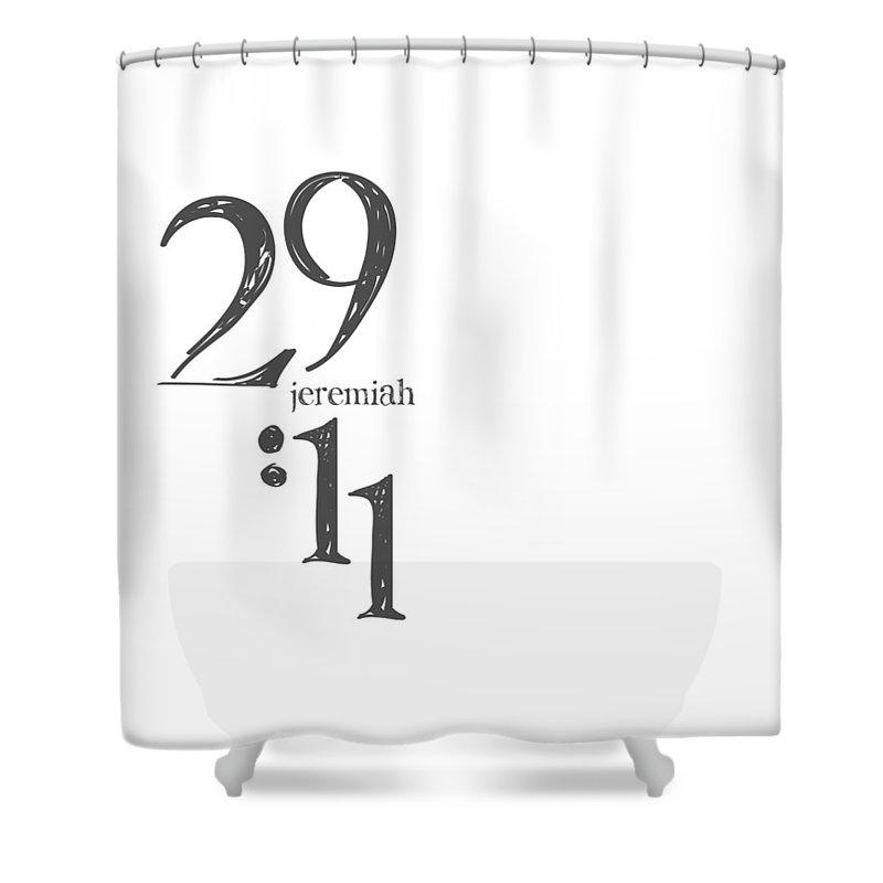 Daniel 4 Expressions Shower Curtain featuring the digital art Daniel 4 Linen by Claire Tingen