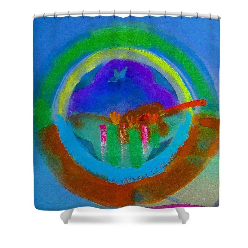 Love Shower Curtain featuring the painting New World Spring by Charles Stuart