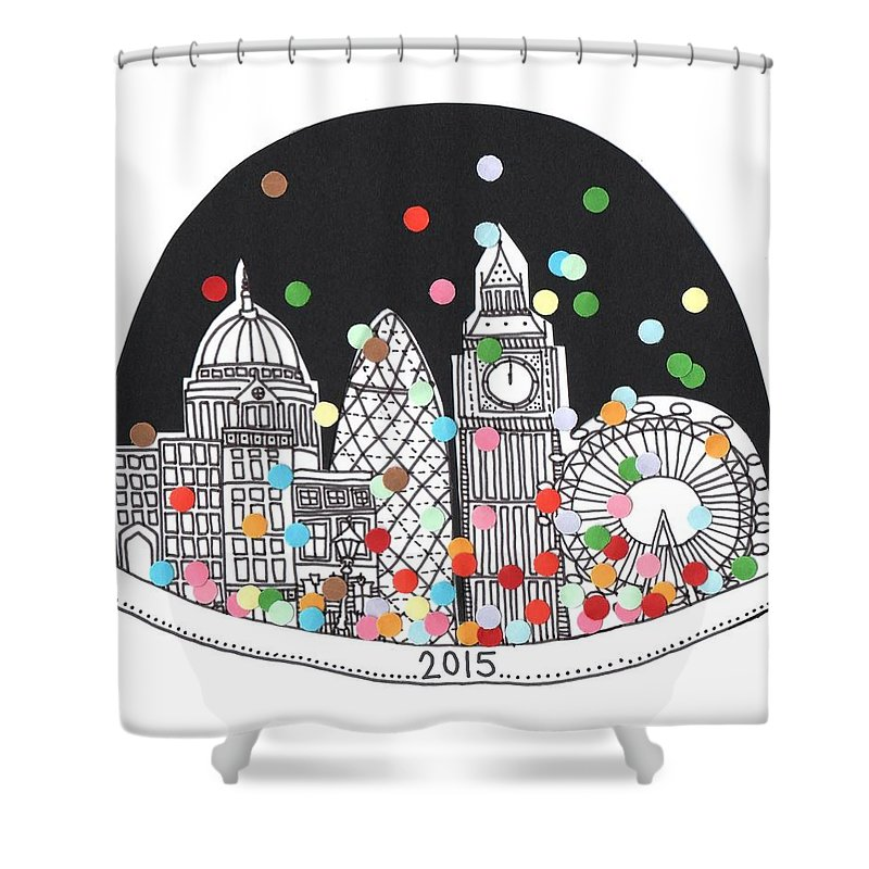 New England Drawings Shower Curtains