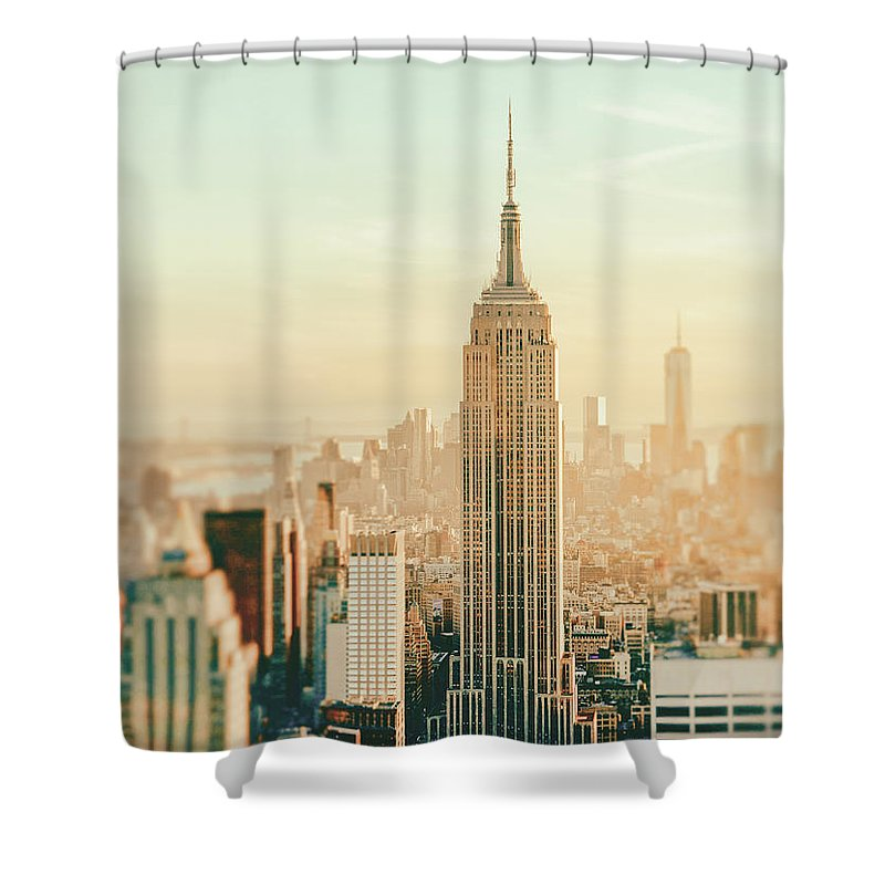Nyc Shower Curtain featuring the photograph New York City - Skyline Dream by Vivienne Gucwa