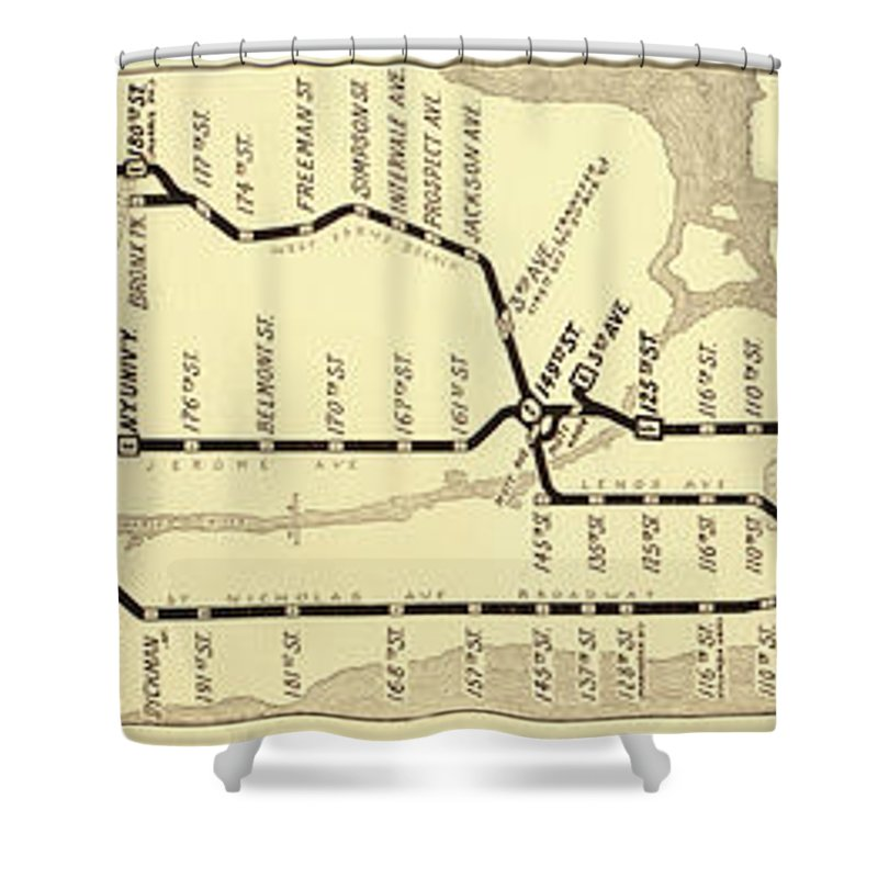 New York Subway Map For Sale.New York City Subway Map Vintage Shower Curtain
