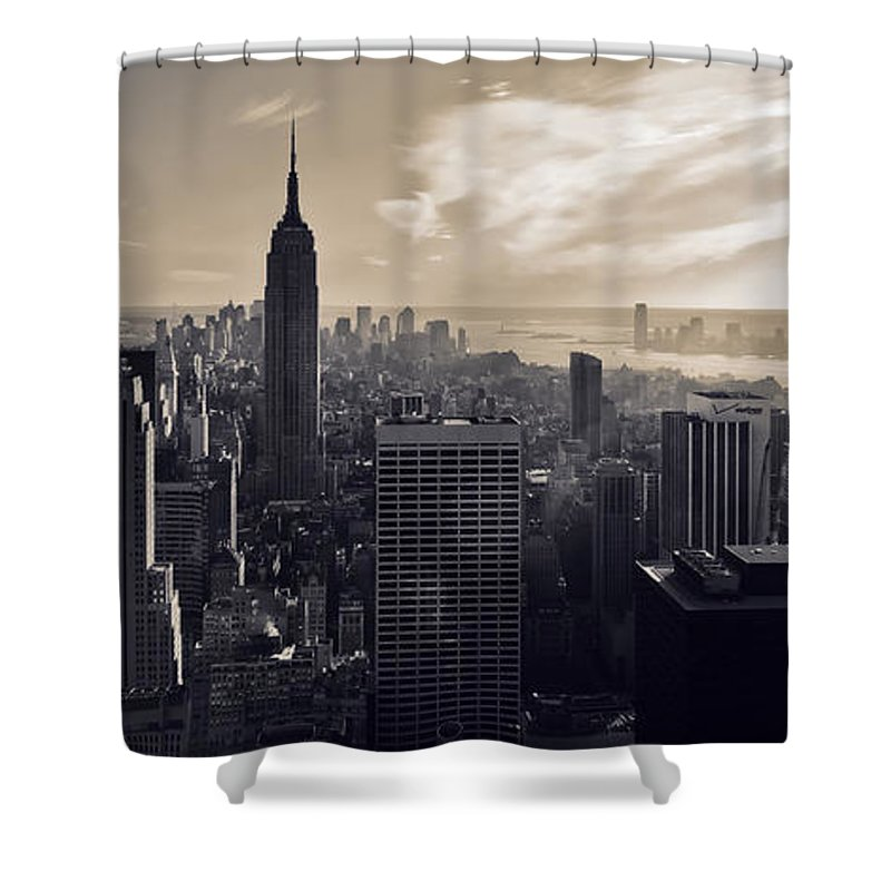 New York Shower Curtain featuring the photograph New York by Dave Bowman