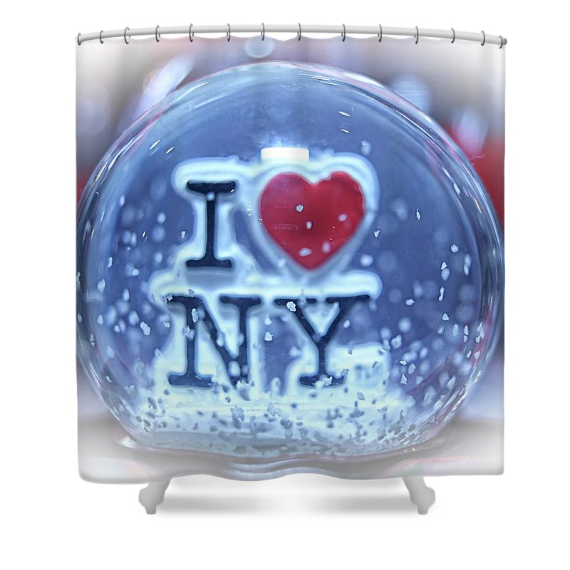 Nyc Shower Curtain featuring the photograph New York Greetings by Nick Difi