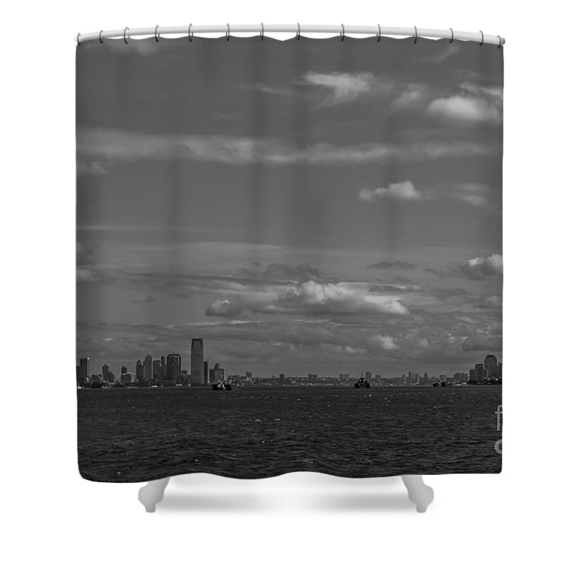 New York Harbor Shower Curtain featuring the photograph New York Harbor by David Rucker