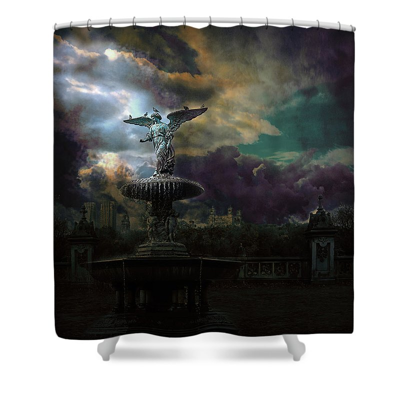 New York Shower Curtain featuring the photograph New York Series Number 3 by Jeff Burgess