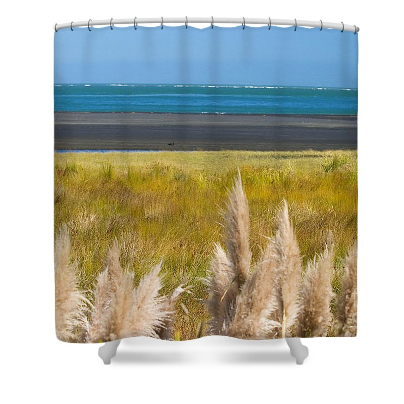 Afternoon Shower Curtain featuring the photograph New Zealand by Tomas del Amo - Printscapes