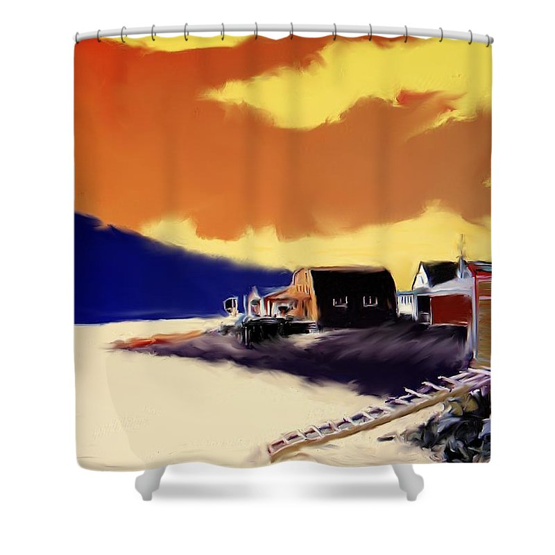Newfoundland Shower Curtain featuring the photograph Newfoundland Fishing Shacks by Ian MacDonald