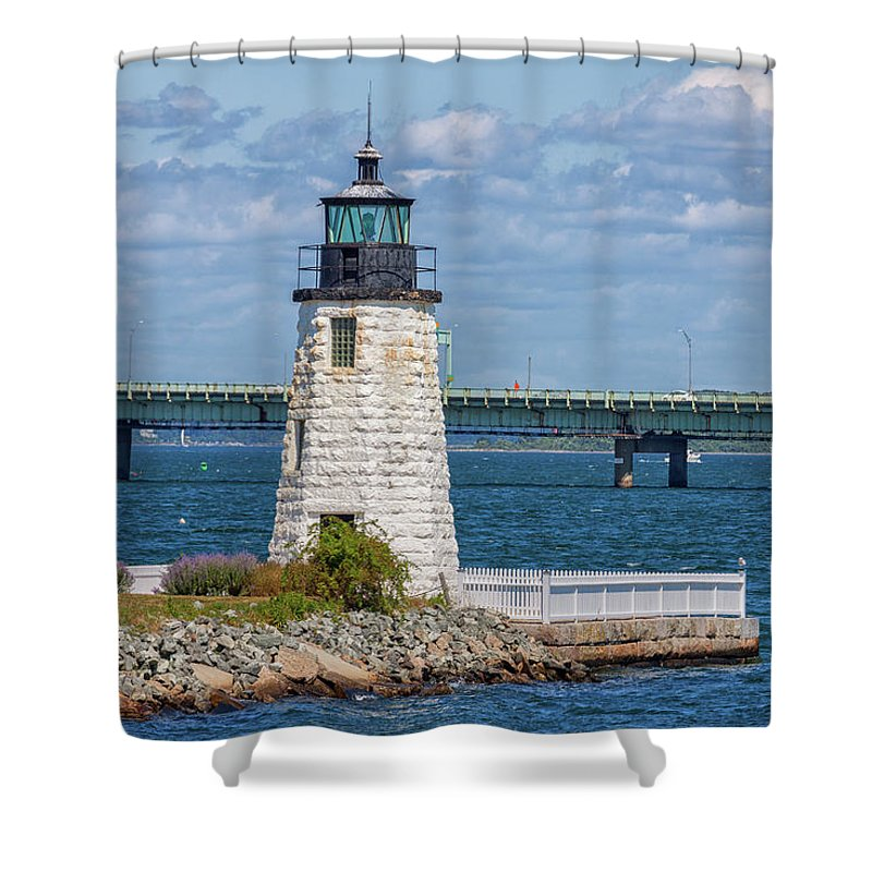 Newport Harbor Lighthouse Shower Curtain For Sale By Brian MacLean