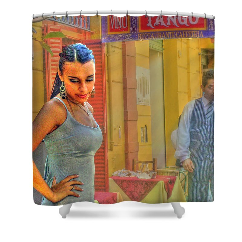 Tango Shower Curtain featuring the photograph Next Steps by Francisco Colon