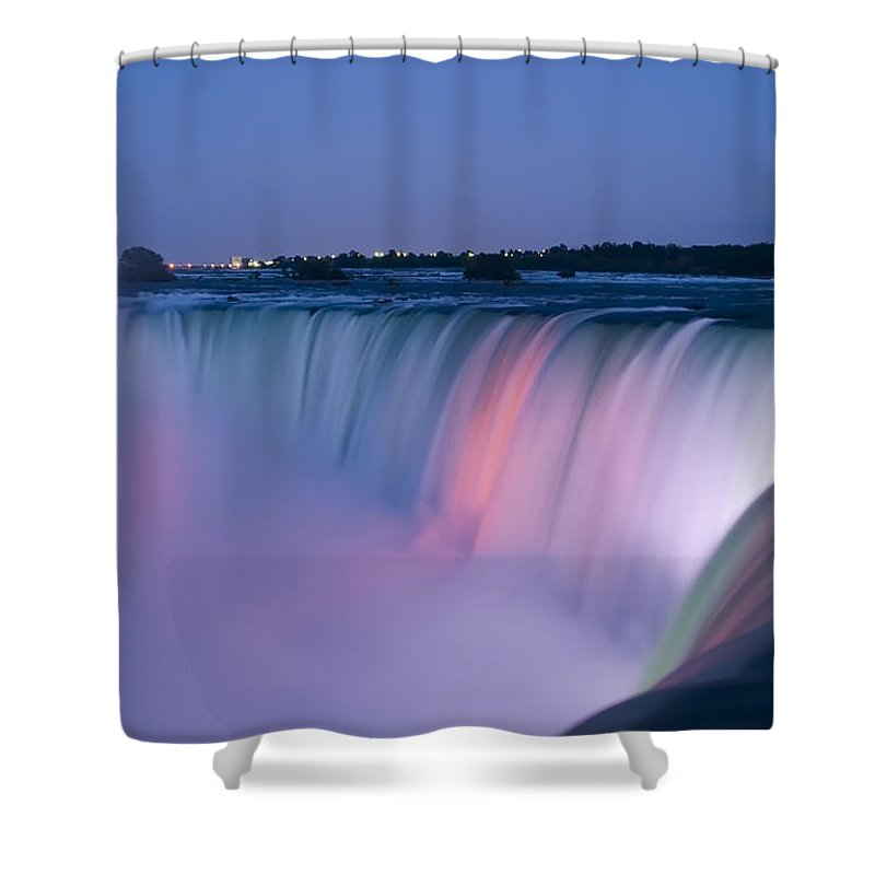 3scape Photos Shower Curtain featuring the photograph Niagara Falls at Dusk by Adam Romanowicz