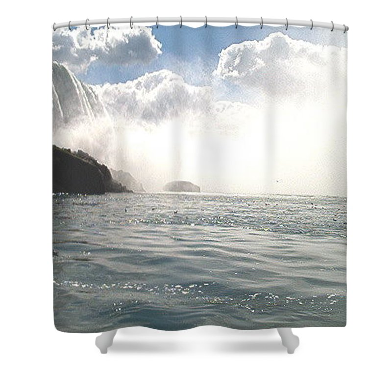 Landscape Shower Curtain featuring the photograph Niagara Falls by Debbie Levene