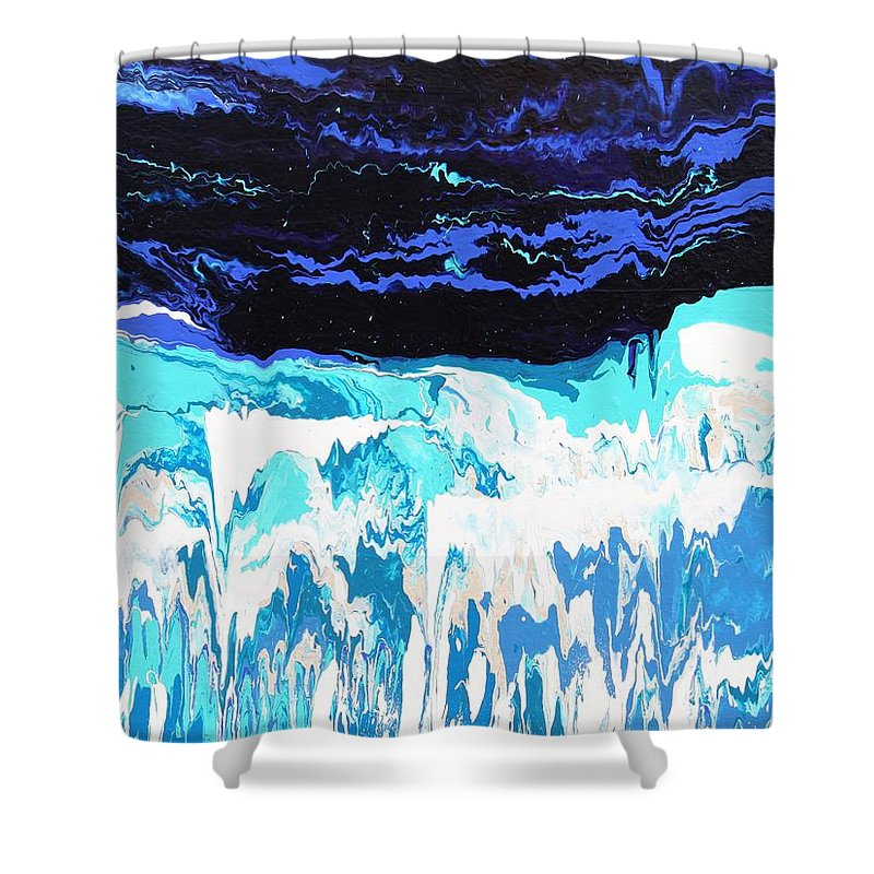 Fusionart Shower Curtain featuring the painting Niagara by Ralph White