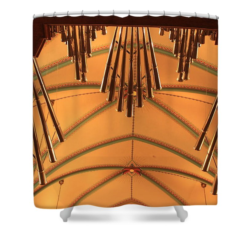 Pipes Shower Curtain featuring the photograph Nice Set Of Pipes by Wade Milne