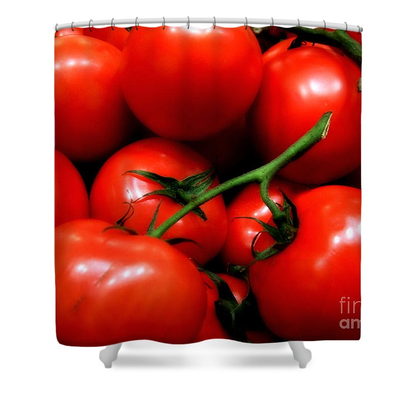 Food Shower Curtain featuring the photograph Nice Tomatoes Baby by RC DeWinter