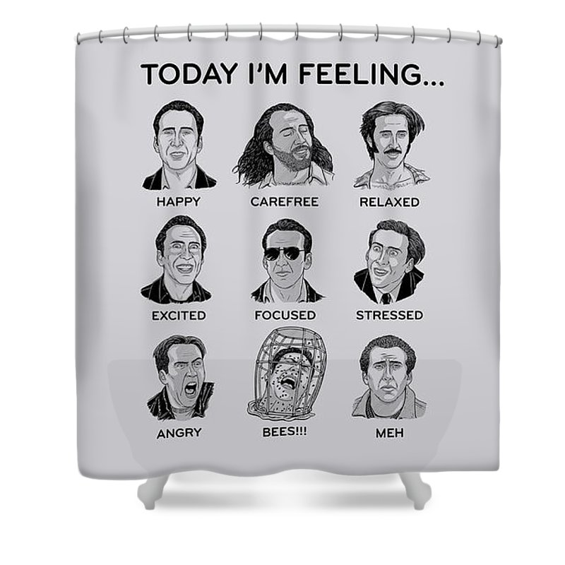 Nicolas Cage Shower Curtain Featuring The Digital Art By Angie Fraley
