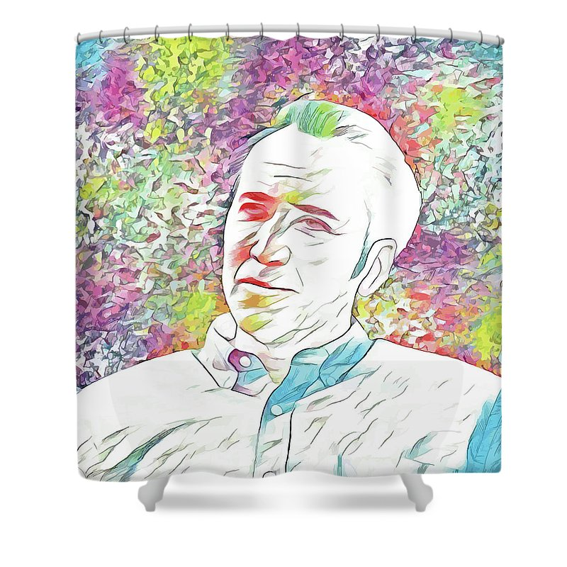 Nicolas Cage Shower Curtain Featuring The Digital Art