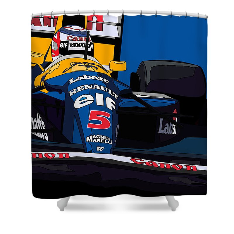 Nigel Shower Curtain Featuring The Digital Art Mansell Williams Fw14 By Valentin Domovic