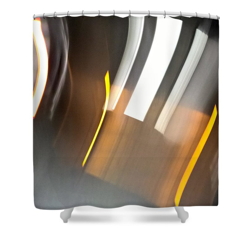 Night Shower Curtain featuring the photograph Night At City Underground by Radka Zimova King