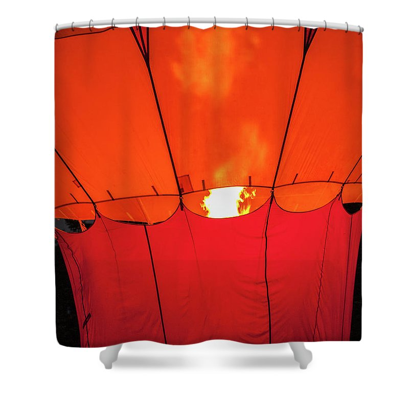 North East Ohio Shower Curtain featuring the photograph Night Glow by Stewart Helberg