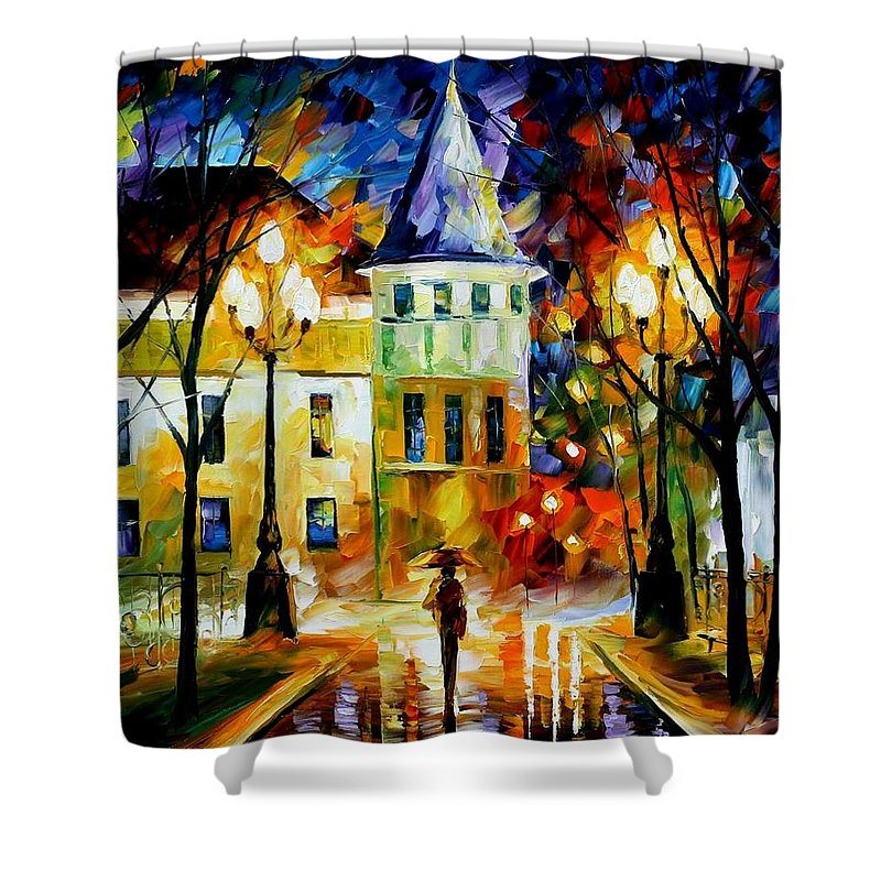 Afremov Shower Curtain featuring the painting Night Magic by Leonid Afremov