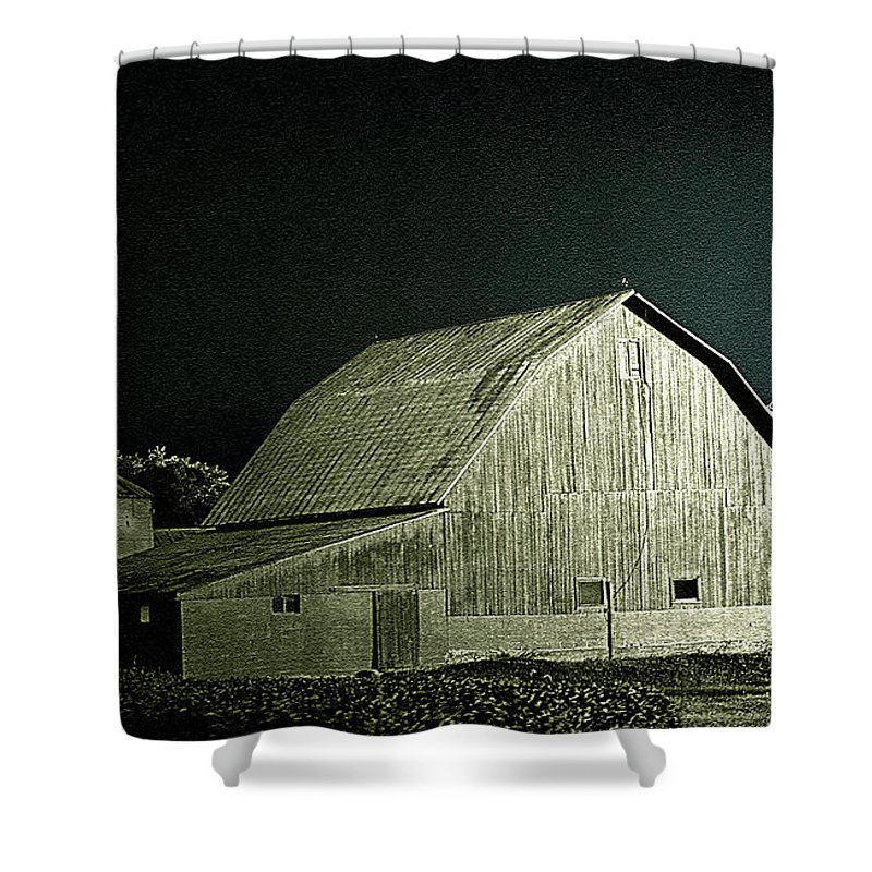 Shower Curtain featuring the photograph Night On The Farm by Jenny Gandert
