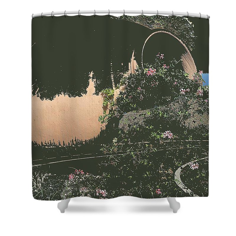 Abstract Shower Curtain featuring the photograph Night by Radulescu Adriana Lucia