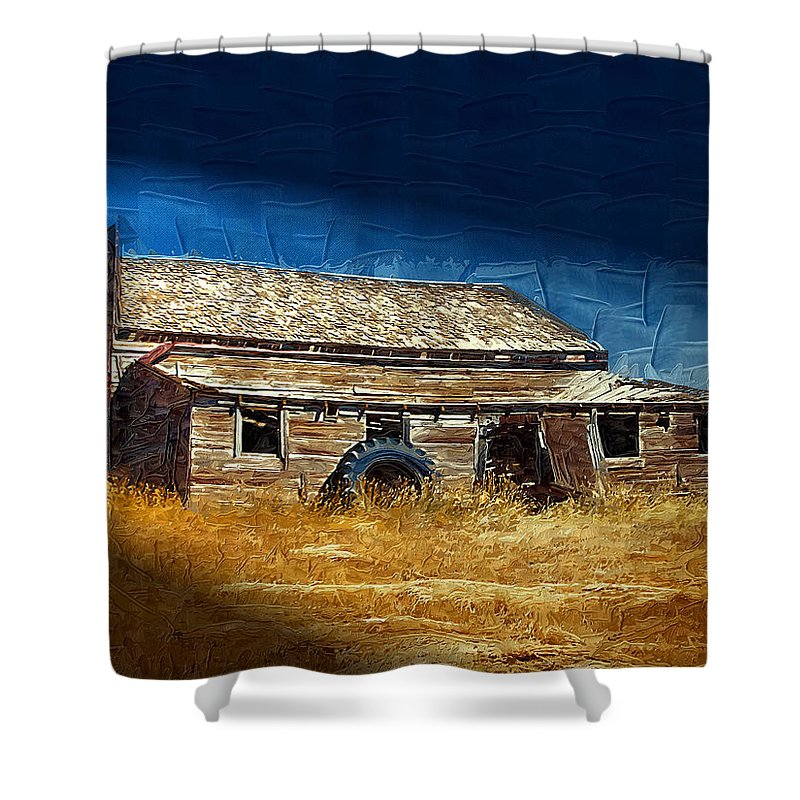 Window Shower Curtain featuring the photograph Night Shift by Susan Kinney