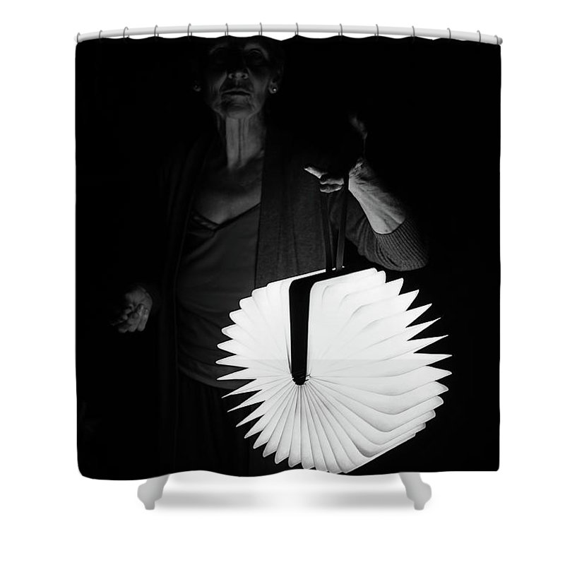 Lumeo Shower Curtain featuring the photograph Night Visitor by Robert Kruger